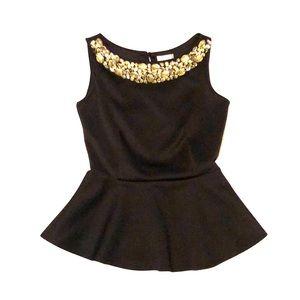 Bisou Bisou black blouse